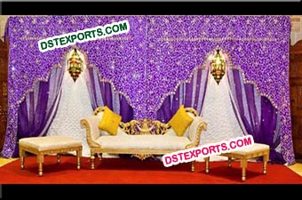 Wedding Stage Mandap Embrodry Backdrop Curtains