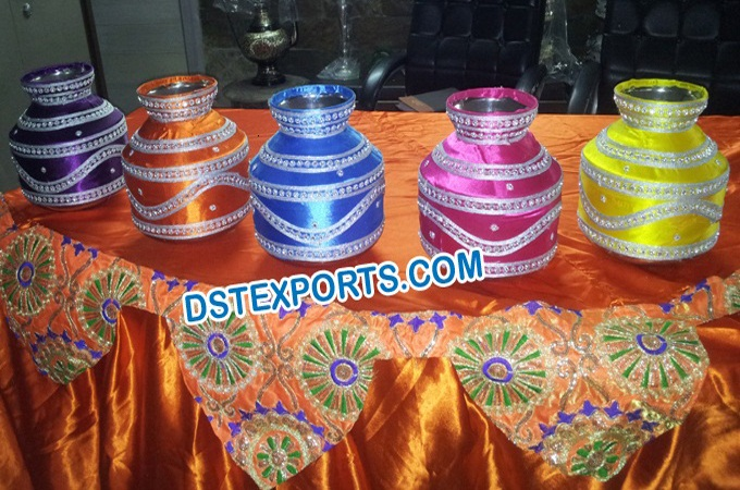 Indian Wedding Decorated Pots/Gagars