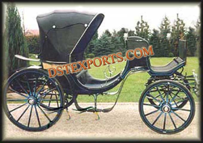 Black Two Seater Carriage For Sale