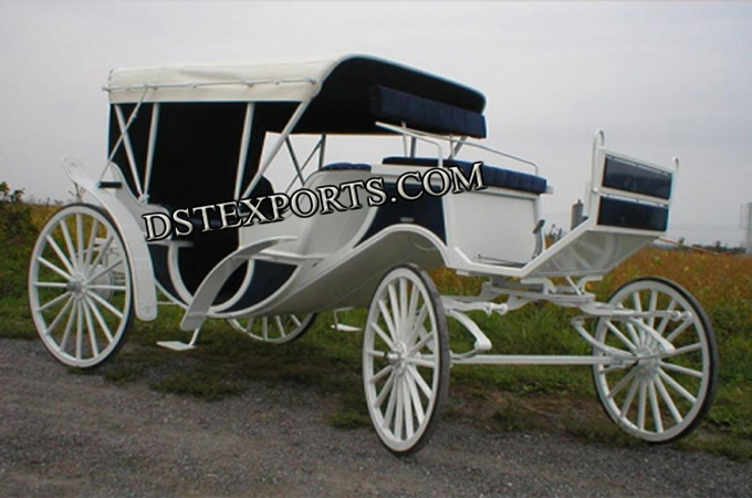 Covered Wedding Vis a Vis Carriages