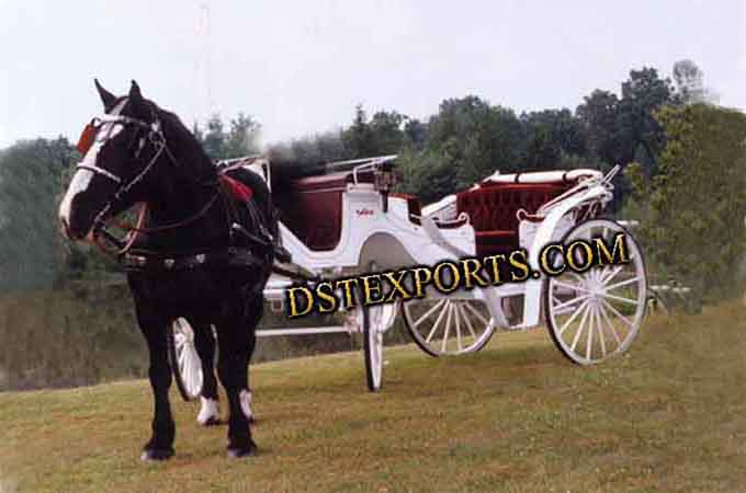 White Wedding Vis a Vis Carriages