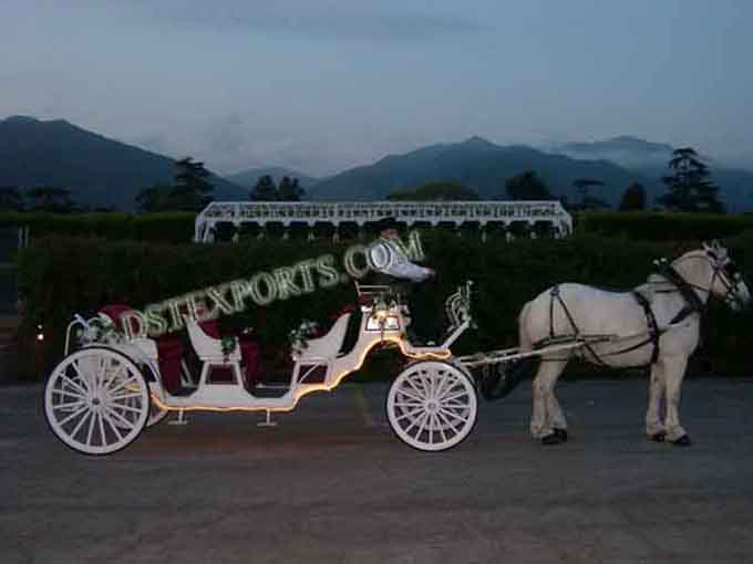 Lighted Wedding Vis a Vis Carriages