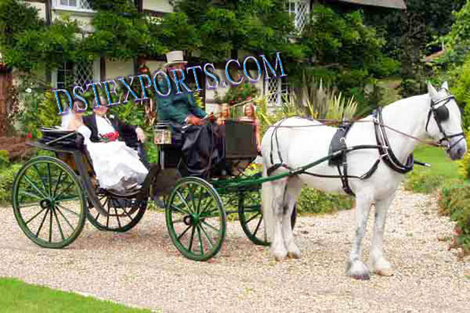 Antique New Black Victoria Carriages For Sale