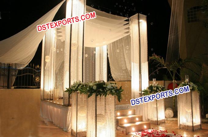 Russian Wedding Crystal Mandap/Pagoda