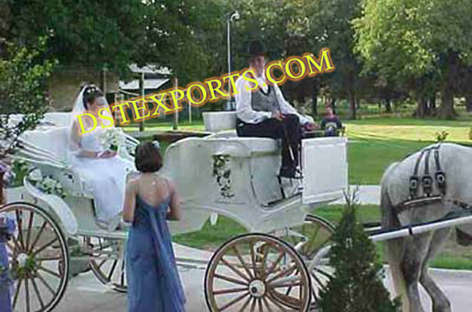 British New Wedding White Carriages