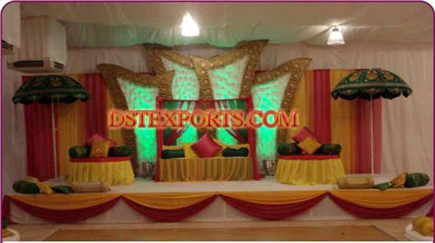 Asians Wedding Mehandi Stage Setup