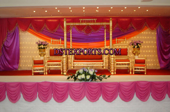 Asian Wedding Golden Swing Stages