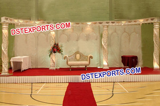 New Asian Wedding Crystal Pillar Stages