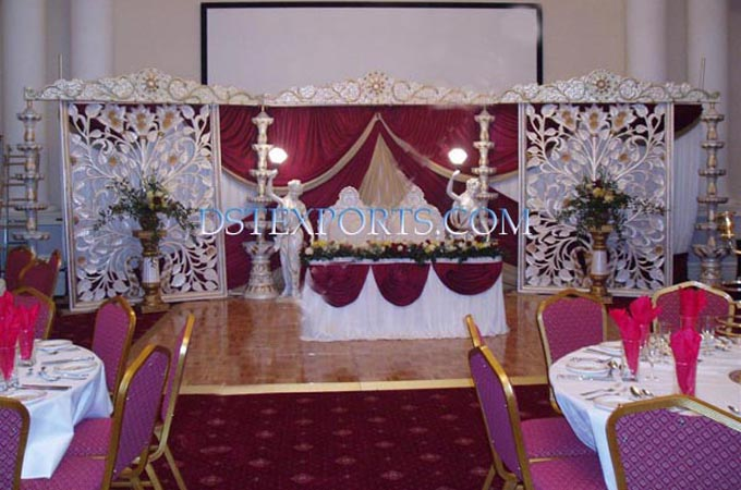 New Wedding Fiber Carved Backdrop Stage