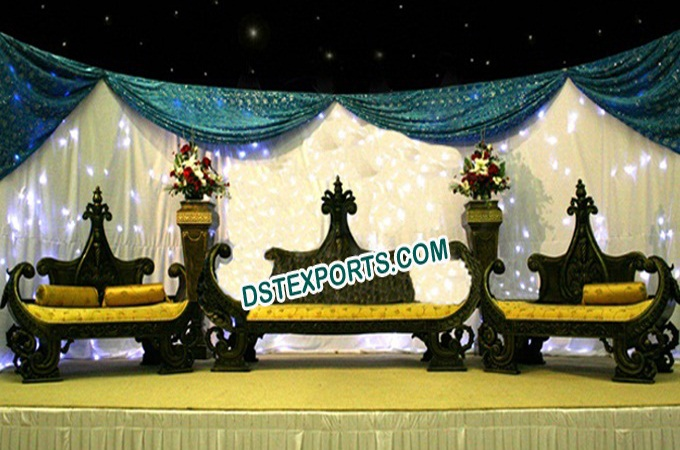 Asian WedAding Royal Black Furniture Set