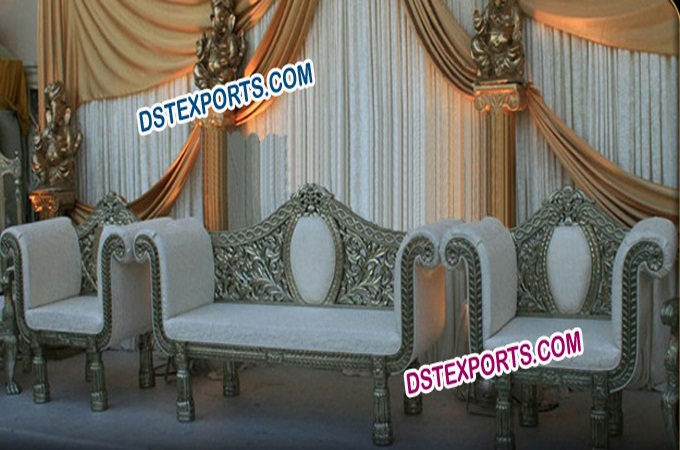 Asian Wedding New Silver Furniture Set