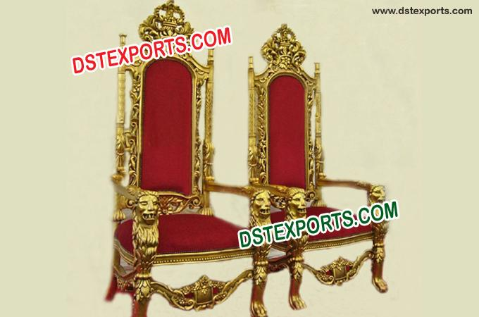 Shaadi Stage Golden Chairs For Wedding