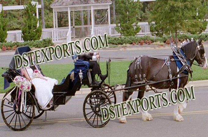 Wedding New Design Black Victoria Carriage