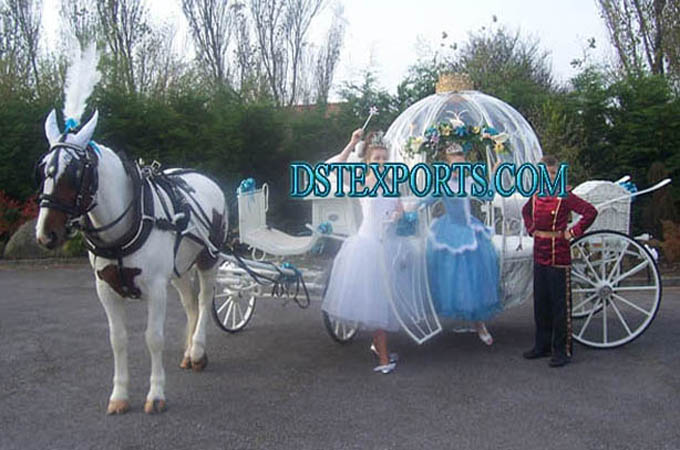 Beautiful Covered Cinderella Horse Drawn Carriage
