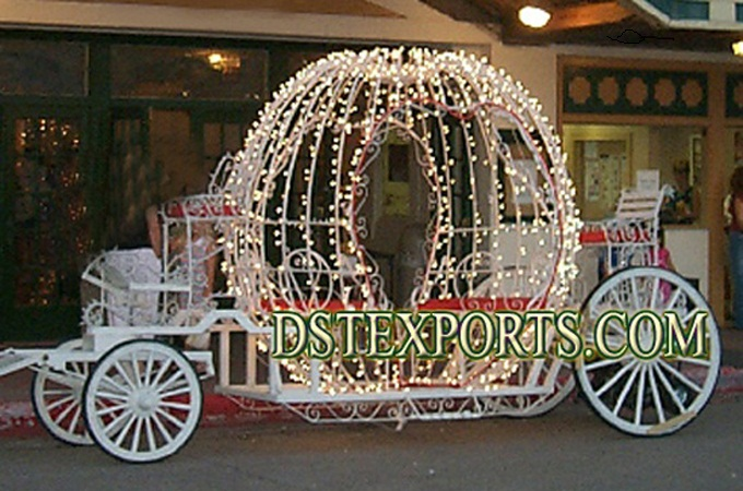 Wedding New Cinderella Carriage  With Lighting