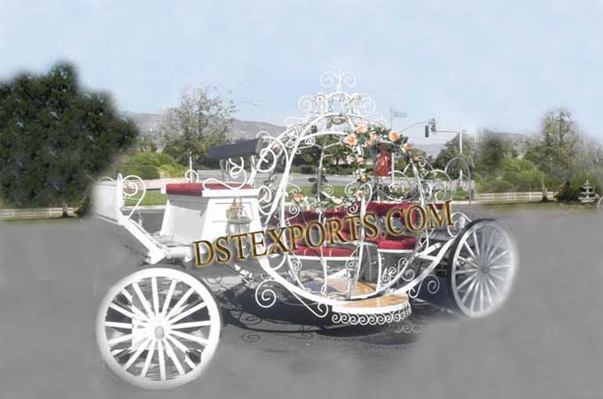 Wedding Flowered Decorated Cinderella Carriage