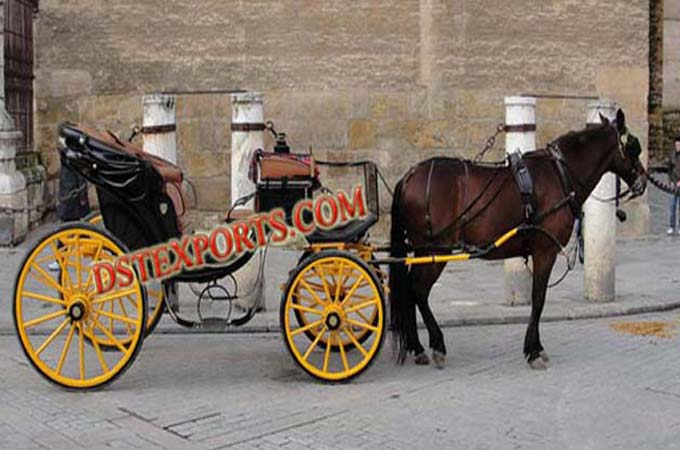 Traditional Black Horse Drawn Carriage