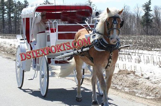 Wedding Elegent Victoria  Horse  Drawn Carriage