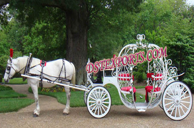 England Wedding Cinderella  Horse Carriage