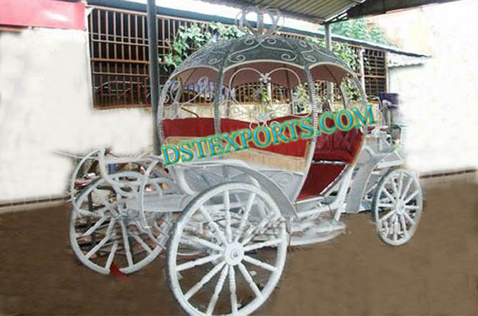 Wedding silver Crystal Cinderella Carriage
