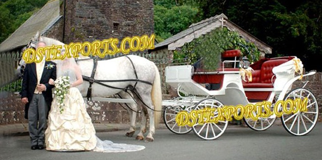 Indian Wedding New White Victoria Carriage