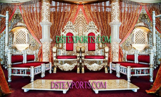 Wedding Royal Gold Crystal Stage