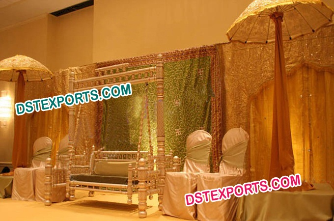 Muslim Wedding Swing Mehndi Stage Set