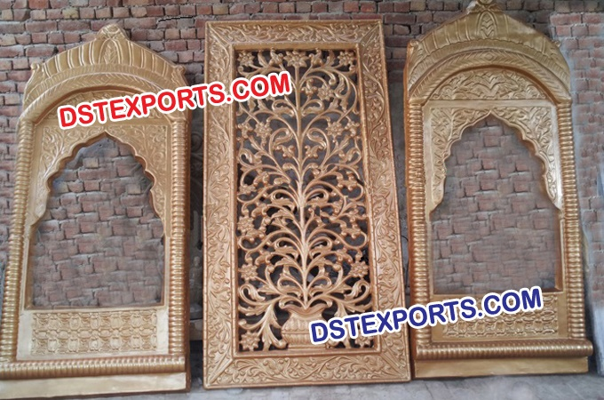 Indian Wedding Stage Set Fiber Backdrop Panels