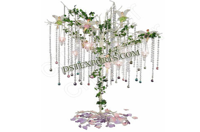 Wedding Decoration With Crystal Tree