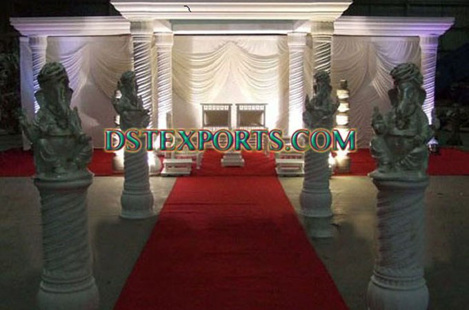 Stylish Wedding Roman Pillars Mandap