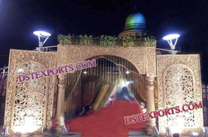 Indian Wedding Fiber Welcome Gate