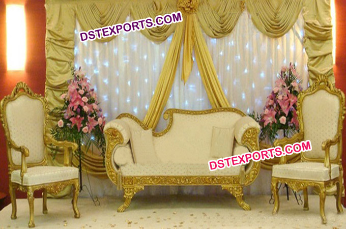 Muslim Wedding Gold Stages