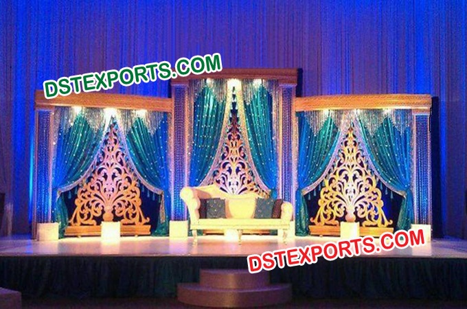 Wedding Reception Stage With Backdrop Panels
