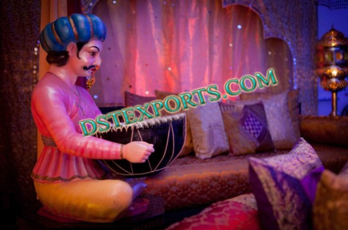 Wedding Mehndi Stage Fiber Statues For Decoration