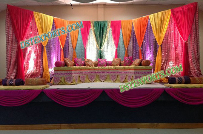 Royal Wedding Mehndi Stage