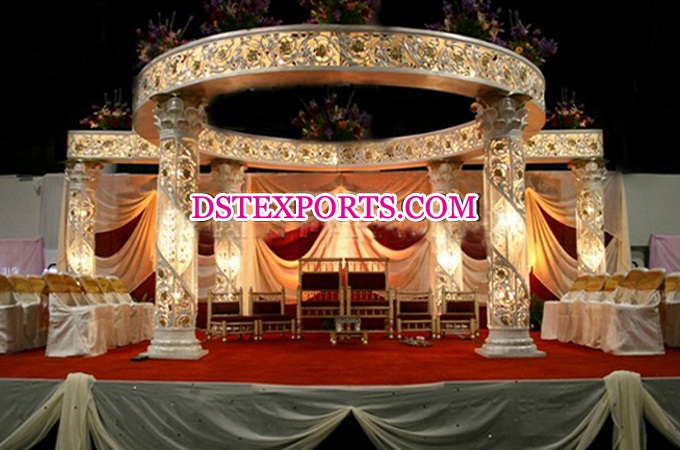 Wedding New Designer Fiber Crystal Mandap
