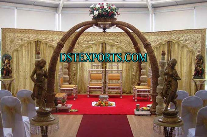 Elegent Wedding Elephant Trunk Pillars Mandap
