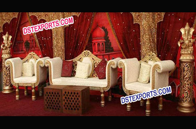 Latest Asian Wedding Golden Furniture For Wedding