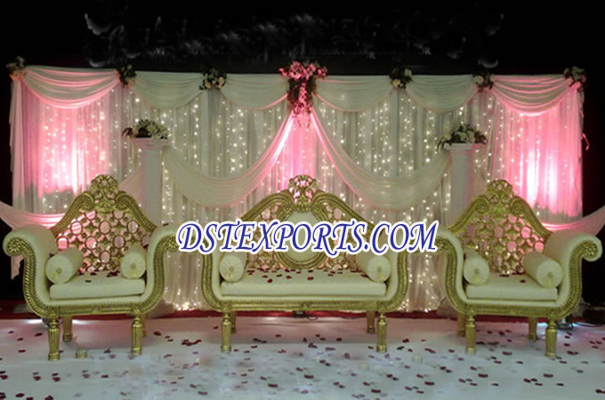 Asian Wedding Golden Elegent Furniture Set