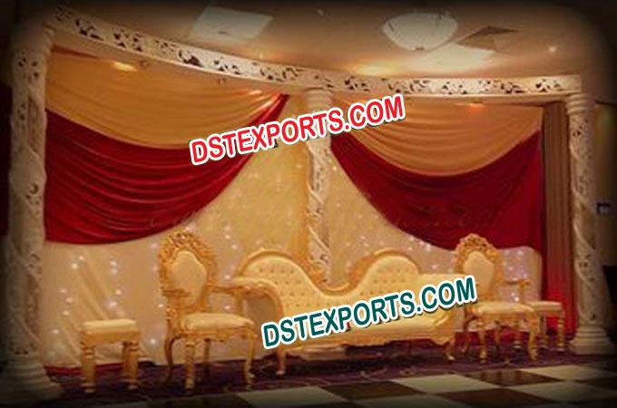 Asian Wedding Stylish Gold Furnitures