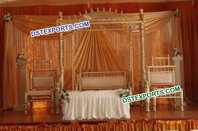 Asian Wedding Stage With Swing Set