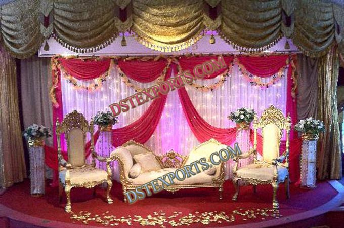 Latest Design Asian Wedding Furniture Set
