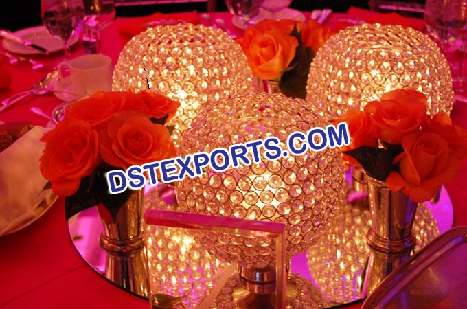 Wedding Crystal Balls For Table Decoration