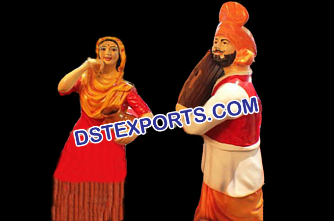 Punjabi Wedding Dancing Couple Statue
