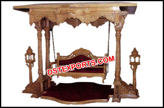 Royal Wedding Wooden Carved Swing