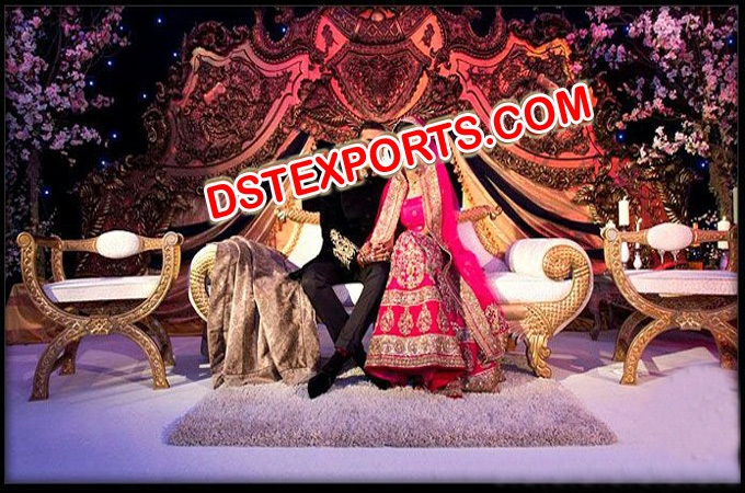 Muslim Wedding Nikah Stage Set