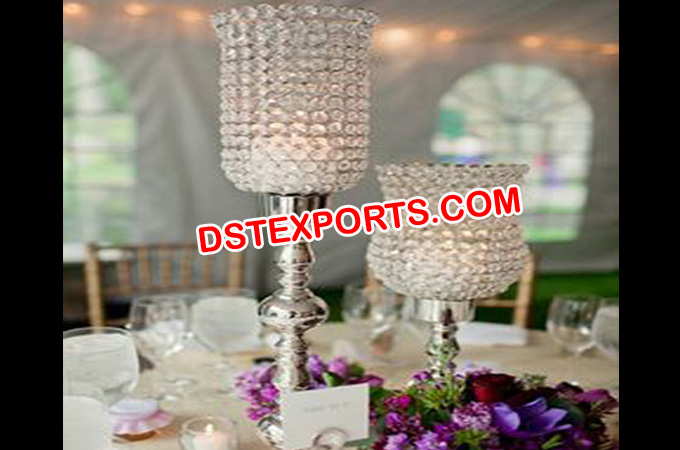 Latest Wedding Crystal Lamp As Center Piece