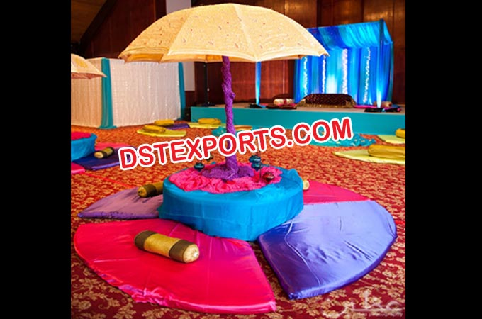 Wedding Umbrella Mehndi Stage Set