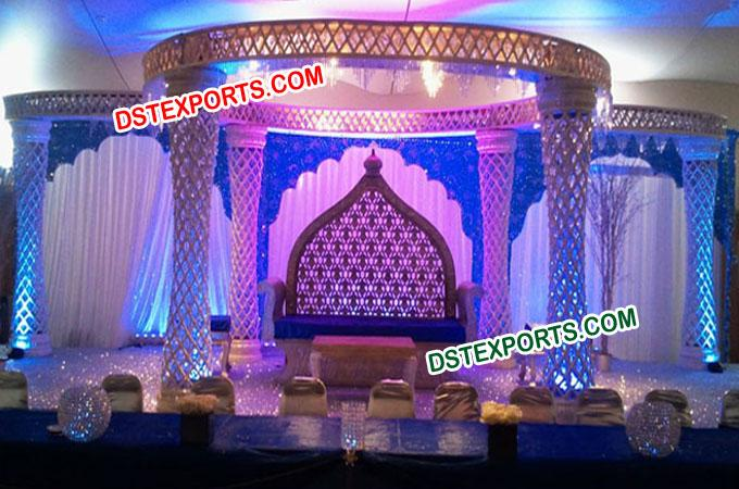 Great Wedding Fiber Crytal Mandap/Pagoda