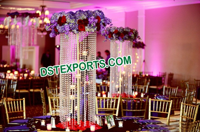 Indian Wedding Crystal Table Decoration